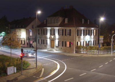 Studentenwohnheim Bayreuth das Haus bei Nacht